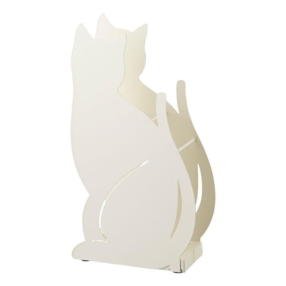 Bílý stojan na deštníky YAMAZAKI Cat