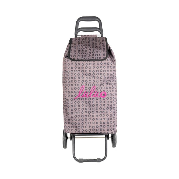 Růžová nákupní taška na kolečkách Lulucastagnette Ridey, 37l