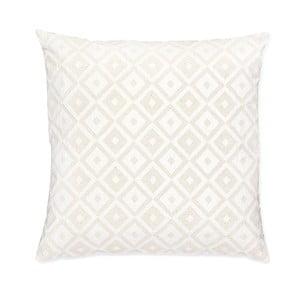 Bílý polštář Casa Di Bassi Whyte Audrey, 50x50 cm