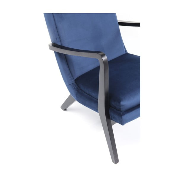 Modré křeslo ušák Kare Design Silence Velvet