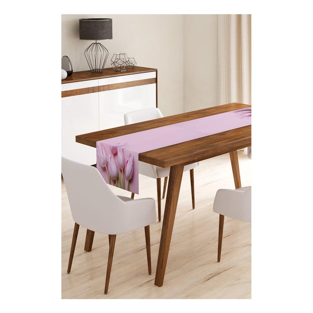 Běhoun na stůl z mikrovlákna Minimalist Cushion Covers Tulips, 45 x 145 cm