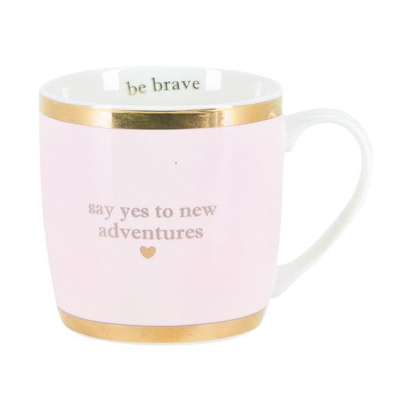 Różowy kubek ceramiczny Miss Étoile Adventures