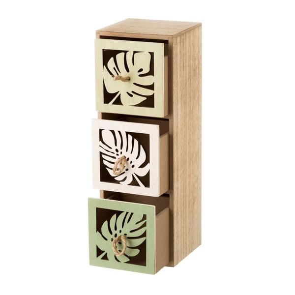 Dřevěný skříňka se 3 šuplíky Unimasa Leaves