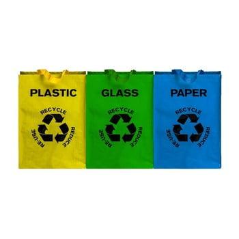 Set 3 sacoșe pentru materiale reciclabile Premier Housewares, 40 l imagine