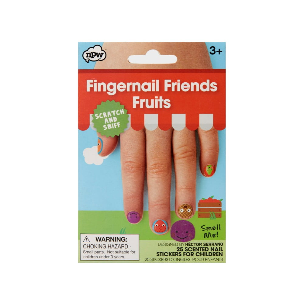 Sada nálepek na nehty npw™ Fruits Scratch & Sniff