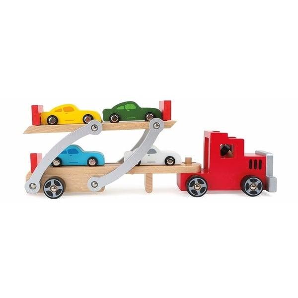 Transporter játék kamion fából - Legler