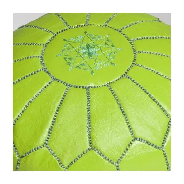 Taburet bez výplně, limetkově zelený