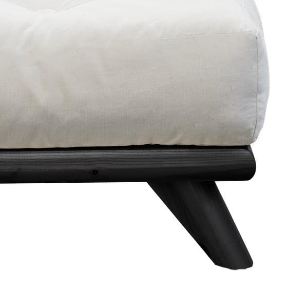 Postel Karup Design Senza Bed Black,140x200cm