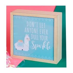 Dekorativní svítící LED box Just 4 Kids Llama Dont Let Anyone Dull Your Sparkle