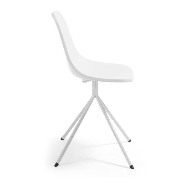 Bílá jídelní židle La Forma Mint