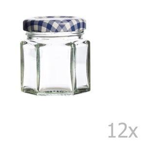 Sada 12 zavařovacích sklenic Kilner Hexagonal, 48ml
