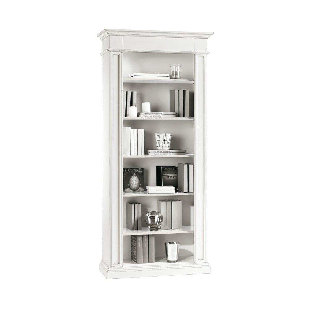 Bílá dřevěná knihovna Castagnetti Lido