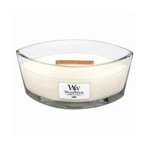 Svíčka s vůní čerstvě vypraného prádla WoodWick Čisté prádlo, dobahoření80hodin