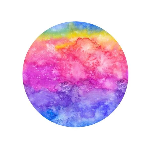 Sada 2 odkládacích stolků Rainbow Watercolour, 35 cm + 49 cm