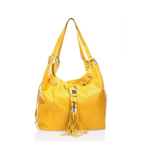 Kožená kabelka Divisa, žluzá