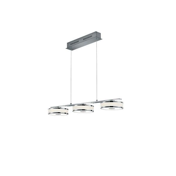 Lustră LED Trio Agento, lungime 90 cm, argintiu