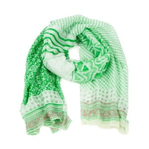 Zelený šátek Art of Polo Iris Green