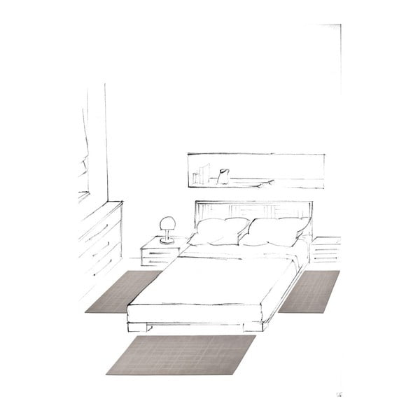 Koberec Street Grey, 65x130 cm
