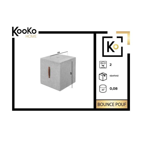 Světle šedá taburetka Kooko Home Bounce
