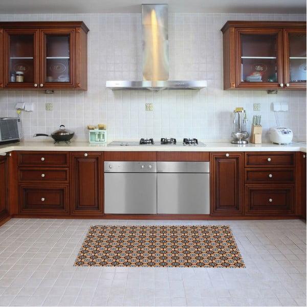 Vinylový koberec Faaria Brown, 52x180 cm