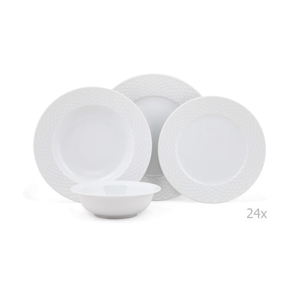 24dílná sada porcelánového nádobí Kutahya Guhlo