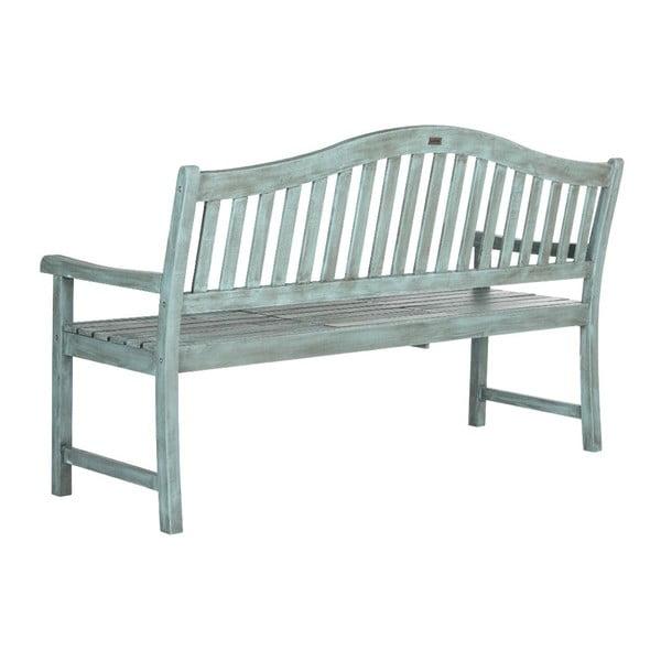 Modrá venkovní dřevěná lavice Safavieh Bailey