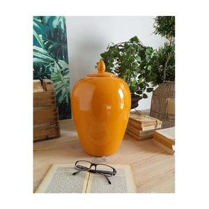 Oranžová keramická dóza Orchidea Milano Luxury, 35cm