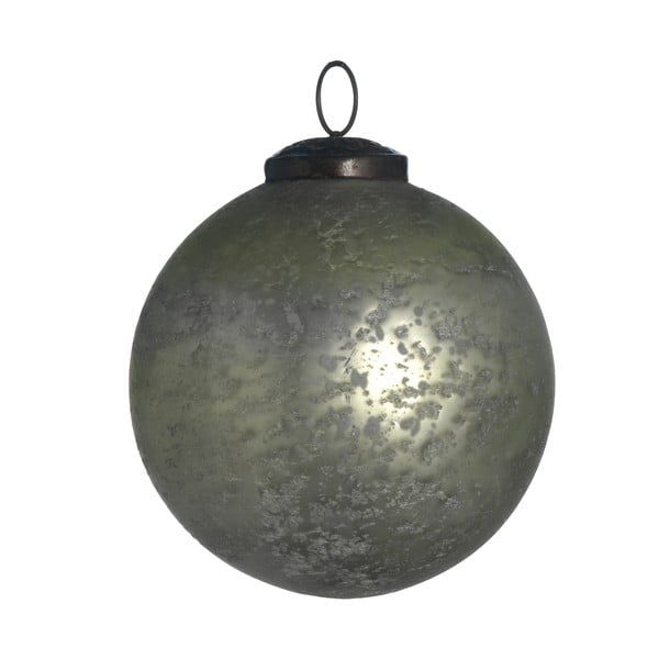 Set šesti skleněných ozdob, Artifact, 10 cm, krémová