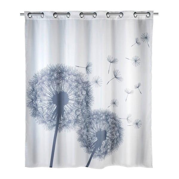 Dandelions fehér penészálló zuhanyfüggöny, 180 x 200 cm - Wenko