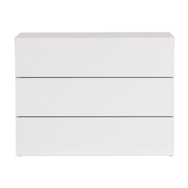 Comodă cu 3 sertare TemaHome Aurora, alb
