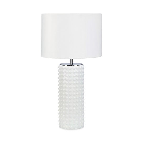 Bílá stolní lampa Markslöjd Proud, ø34cm