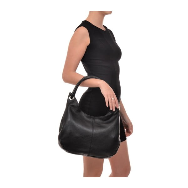 Černá kožená kabelka Carla Ferreri no. 1022
