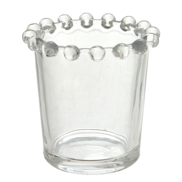 Svícen Pearl Glass, 7x7 cm