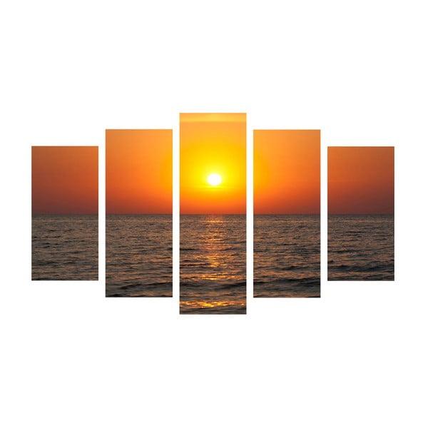 5dílný obraz Sun & Sea, 60x100 cm