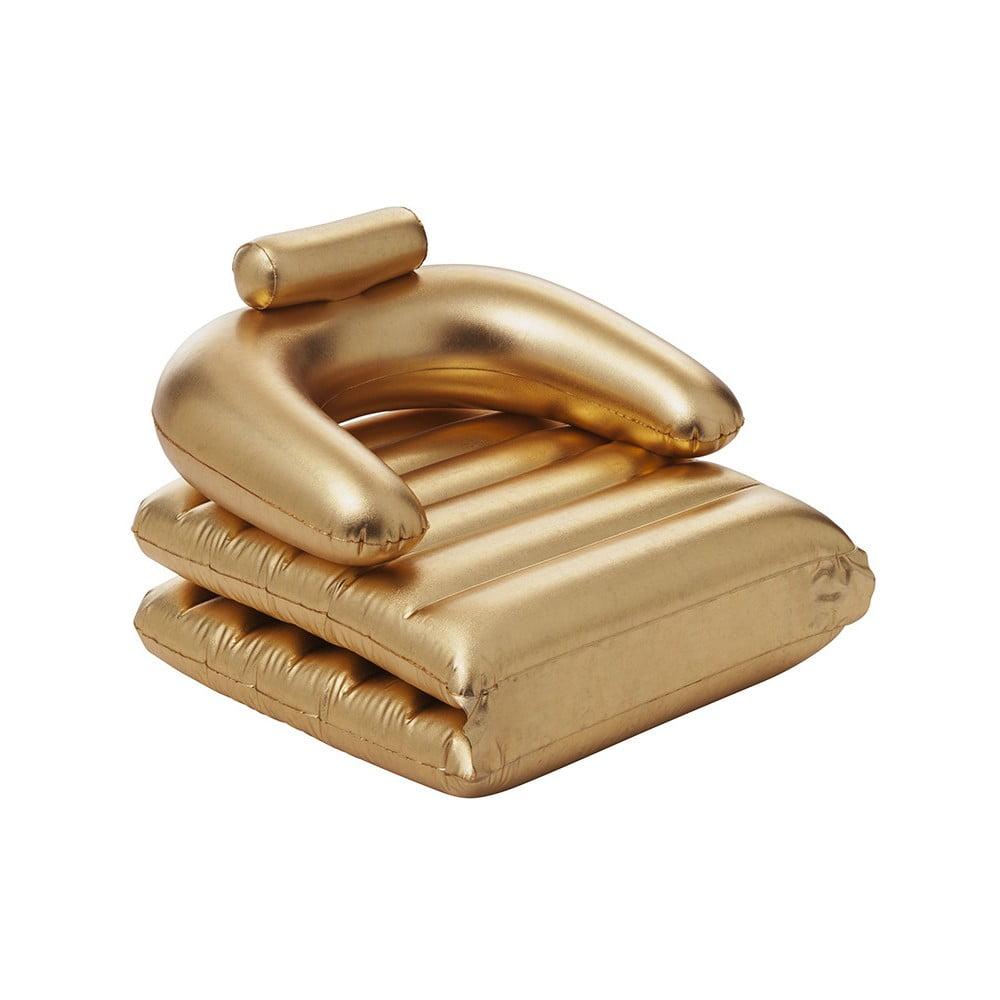 Polohovatelné nafukovací křeslo / lehátko ve zlaté barvě Sunvibes Dorée