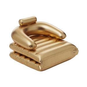 Fotoliu gonflabil pentru piscină Sunvibes Dorée, auriu