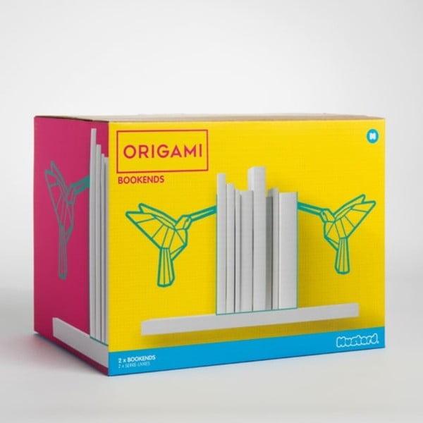 Ocelový stojánek na knihy Just Mustard Origami