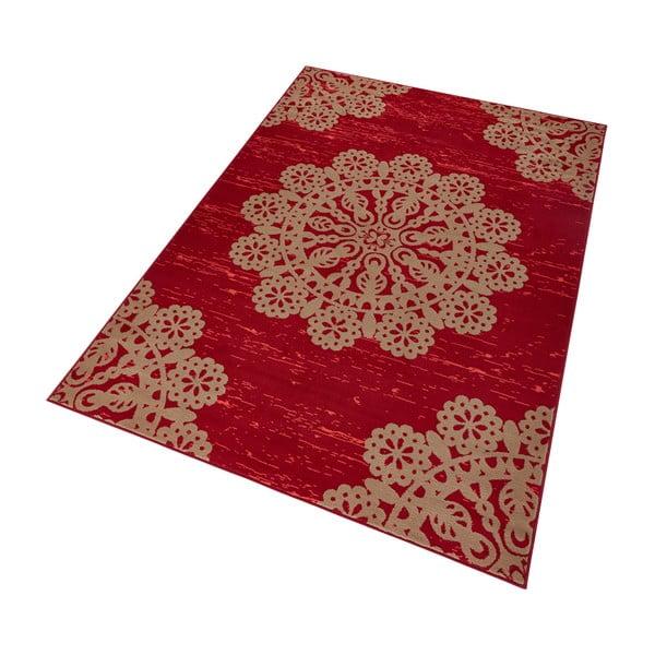 Červený koberec Hanse Home Gloria Lace, 80x150cm