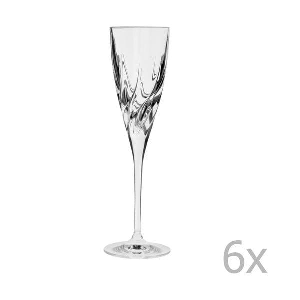 Sada 6 sklenek na šampaňské Crystal Bettina