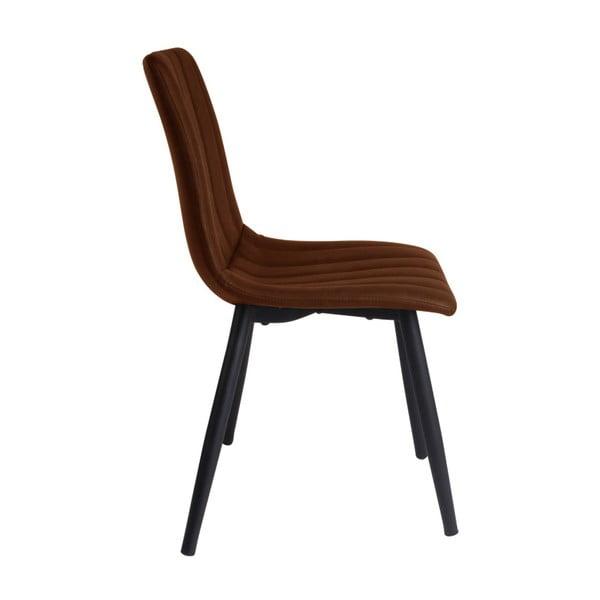 Koňakově hnědá jídelní židle Leitmotiv Raw
