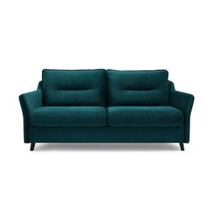 Canapea extensibilă cu 3 locuri Bobochic Paris Loft, verde