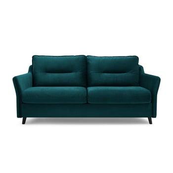 Canapea extensibilă cu 3 locuri Bobochic Paris Loft verde petrol