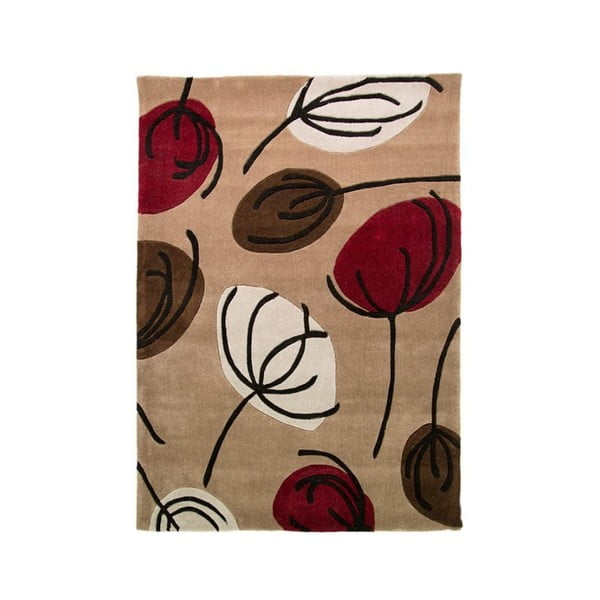Koberec Fifties Floral 120x170 cm, červený