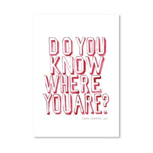 Plakát Do You Know Who You Are, 30x42 cm