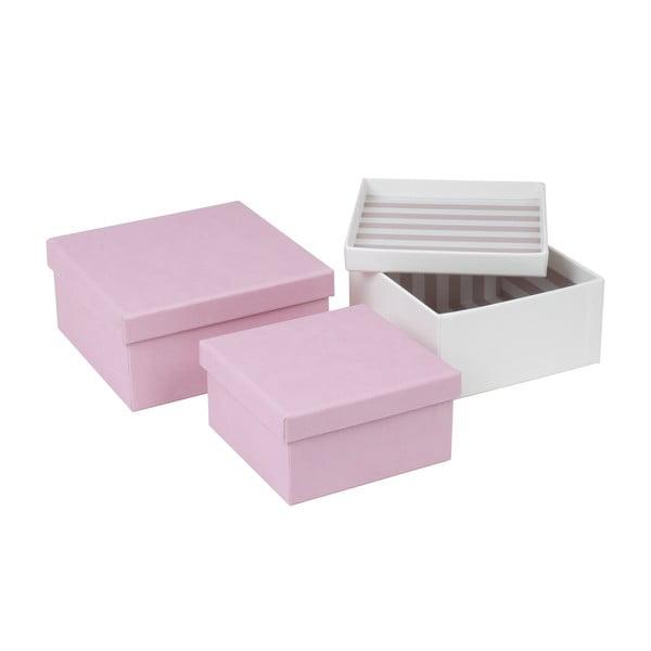 Sada 3 koženkových boxů Tri-Coastal Design Charming Garden