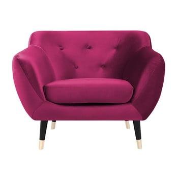 Fotoliu Mazzini Sofas AMELIE cu picioare negre, roz de la Mazzini Sofas