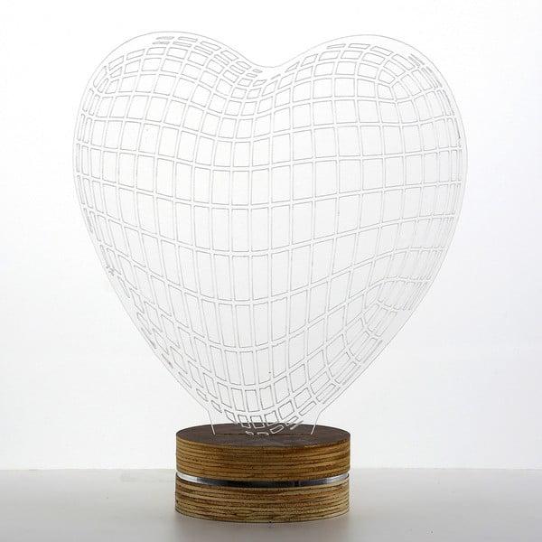 3D stolní lampa Heart