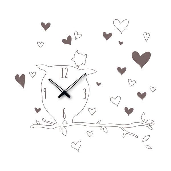 Samolepící hodiny Sova