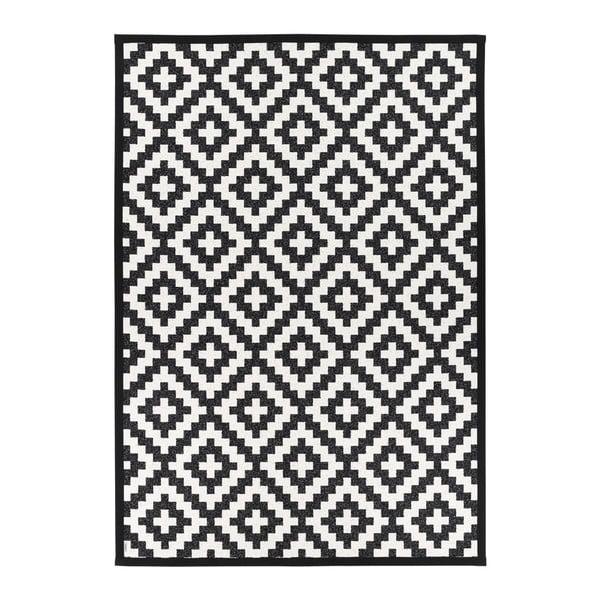 Černo-bílý oboustranný koberec Narma Viki Black, 200 x 300 cm