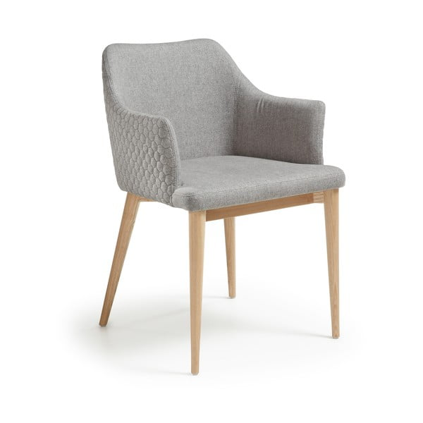 Jasnoszare krzesło do jadalni La Forma Danai